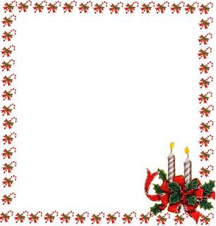 borda velas de natal