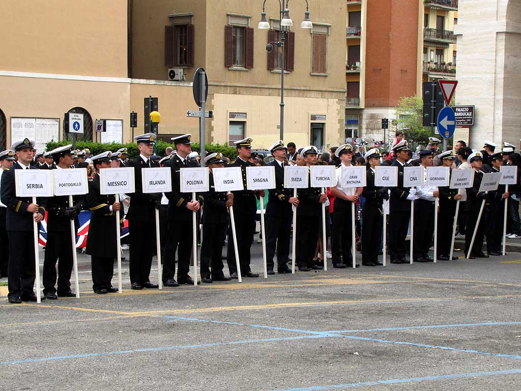 28th TAN, Foreign Navies parade, Livorno