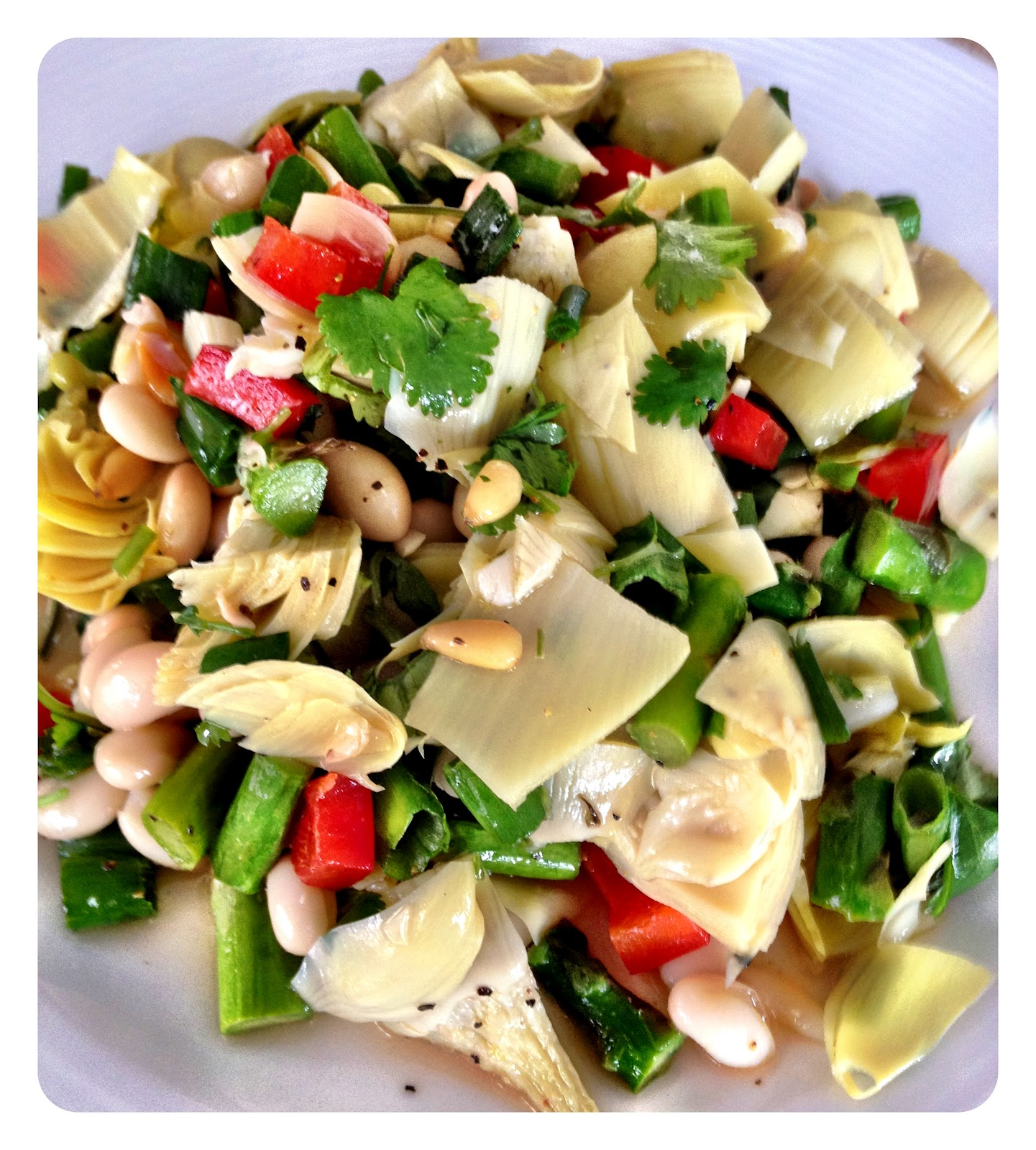... in Love: What I'm Cooking: Artichoke Heart and Asparagus Spring Salad