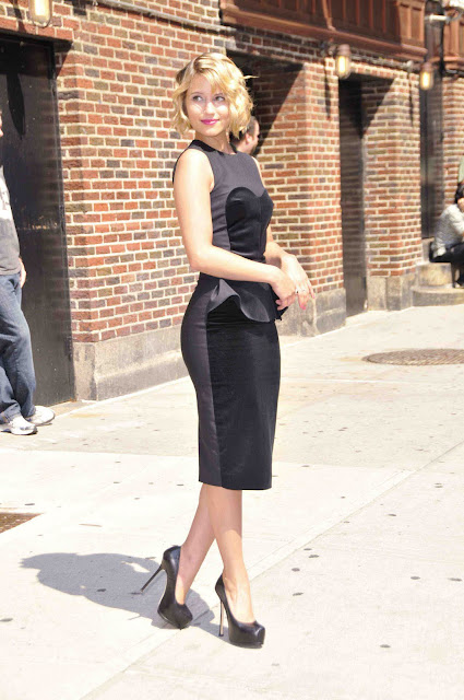 Dianna Agron - at Late Show with David Letterman in NY