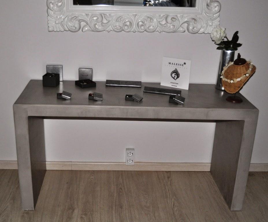mueble recibidor microcemento gris