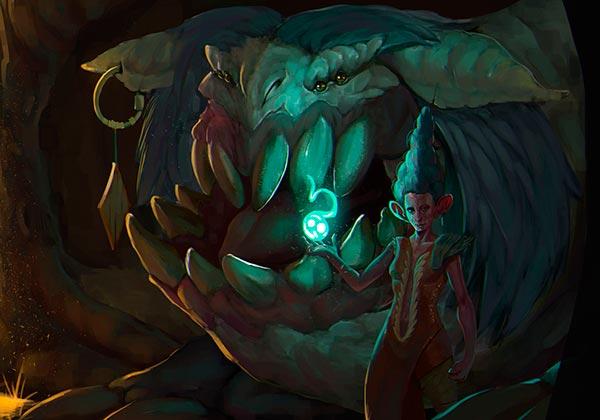Ilustración, Light of Fantasy de Juan David Muñoz Rico