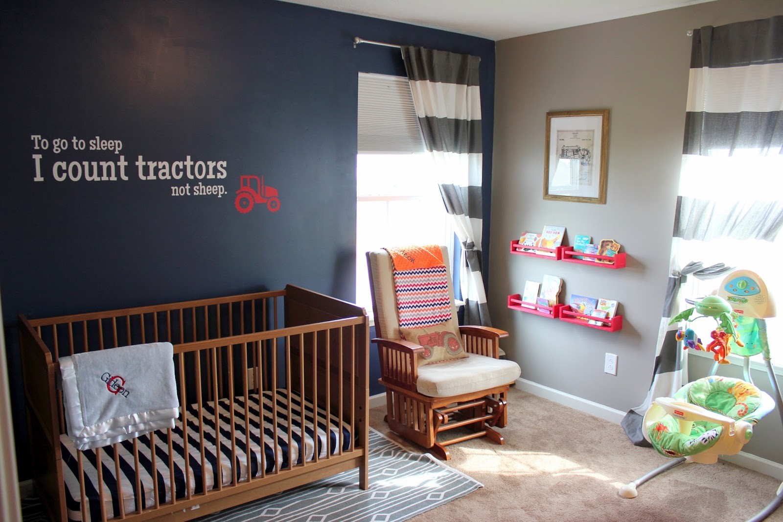Tag you 39 re it the red tractor nursery for International harvester room decor