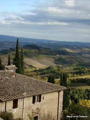 Widok na wzgórza Toskanii