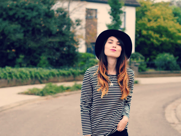 Striped top, fringed boots