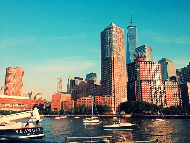 new york city tribeca, hudson river nyc, best views new york, nyc skyline water, hoboken new york, downtown nyc, free fitness outside nyc, shape up new york, get fit new york