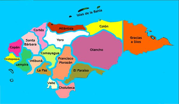 honduras en el mapa