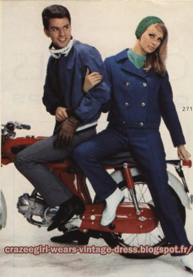 Pant suit peacoat pea coat jacket double breast - 1967 mopeds, motorbikes, motorcycles, scooters 60s 1960 mod