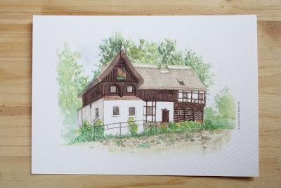 Aquarell Reiterhaus