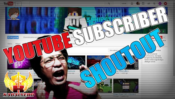 YouTube Subscriber Shoutout ☻ 3DHipster