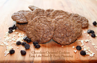 Chocolate Oatmeal Cookies - Easy Life Meal & Party Planning