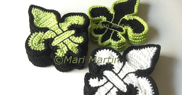 Crochet Coaster Fleur de Lis