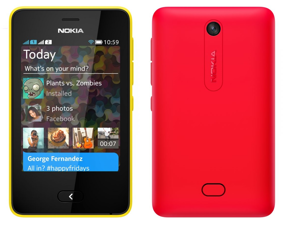 Asha 501 mobile images