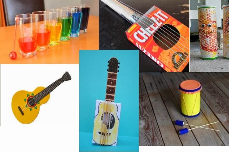 propios instrumentos musicales caseros con tus alumnos o en casa, con