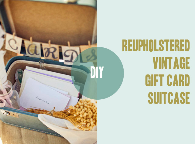 #DIY vintage gift card suitcase