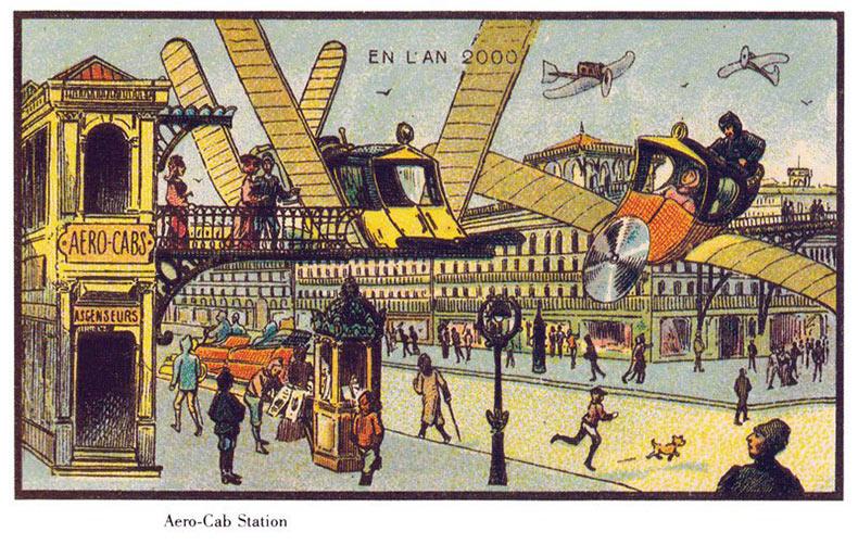 Hace 100 años, a los artistas se les pidió representar el año 2000, estos fueron los resultados
