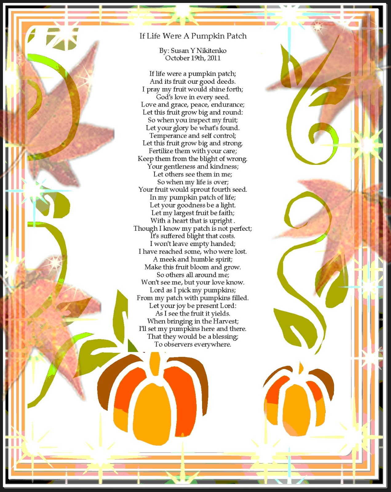 graphic relating to Pumpkin Gospel Printable identified as Pumpkin Poem Concerning God Search phrase Information - Similar Pumpkin Poem