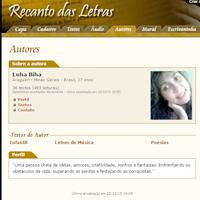 Sou autora no Recanto das Letras