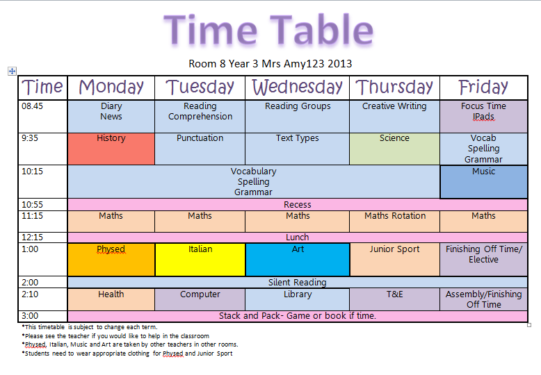 bench 3 times a week mrsamy123 timetable : timetable from www.bedlamagora.com size 778 x 540 png 45kB