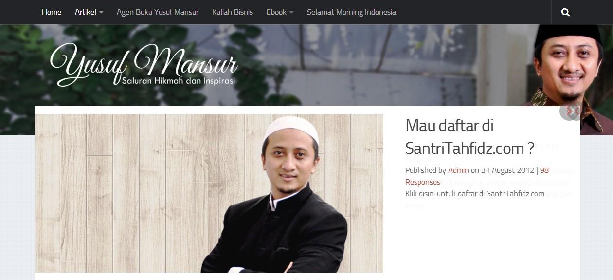 Website Ustadz KH. Yusuf Mansur