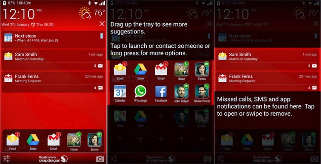 Qualcomm's Snapdragon Glance Android app lets you see information on a lockscreen