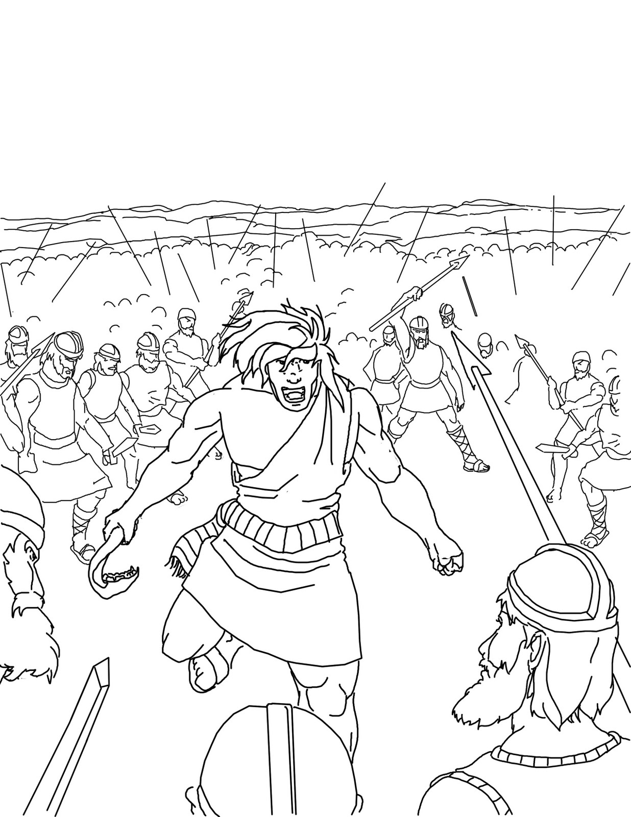 Samson bible coloring pages 9309178 - wild-thyme.info