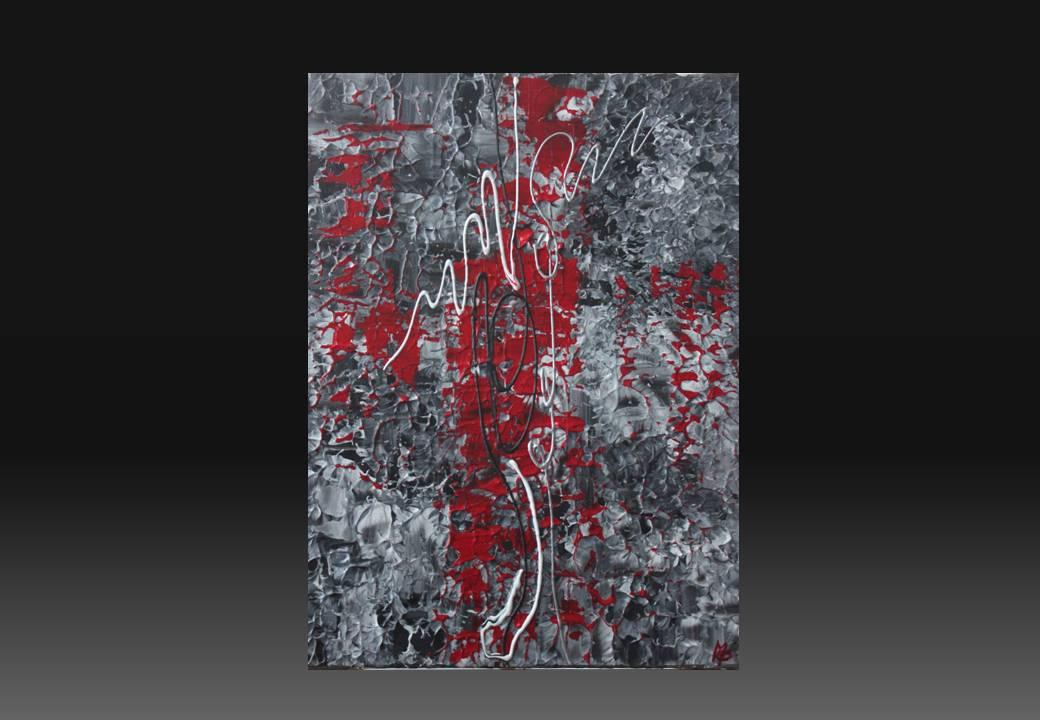 Arizonami mes peintures sur toiles for Tableau blanc et rouge