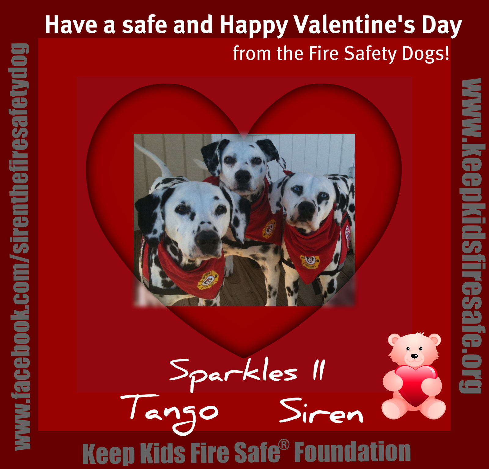 Have A Safe And Happy Valentines Day From The Fire Safety Dogs Link Free Downloadable Coloring