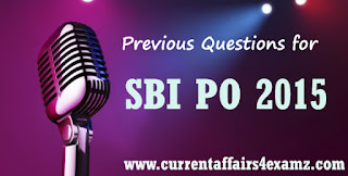 SBI PO 2015 Questions