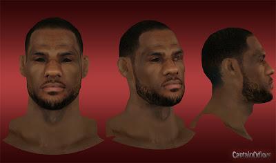 NBA 2K13 LeBron James Default Hair Mod