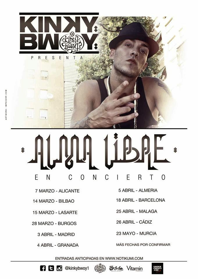 Gira Kinky Bwoy, Alma Libre