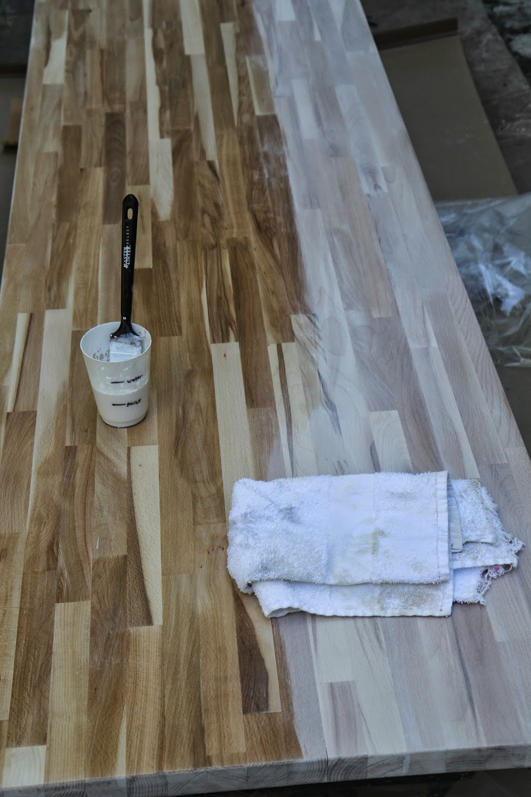 How to whitewash wood; Designing Our Home Office; Nora's Nest