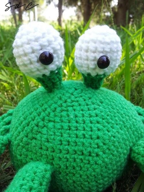 cangrejo de crochet amigurumi