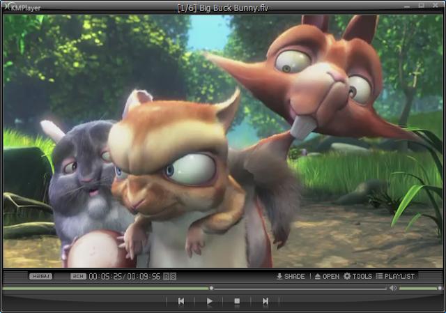 KMPlayer video playing screen shot