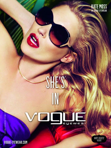 Kate Moss Vogue Eyewear Ad Campaign
