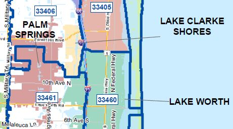 Lake Clarke Shores. A lakeside town west of our City of Lake Worth.