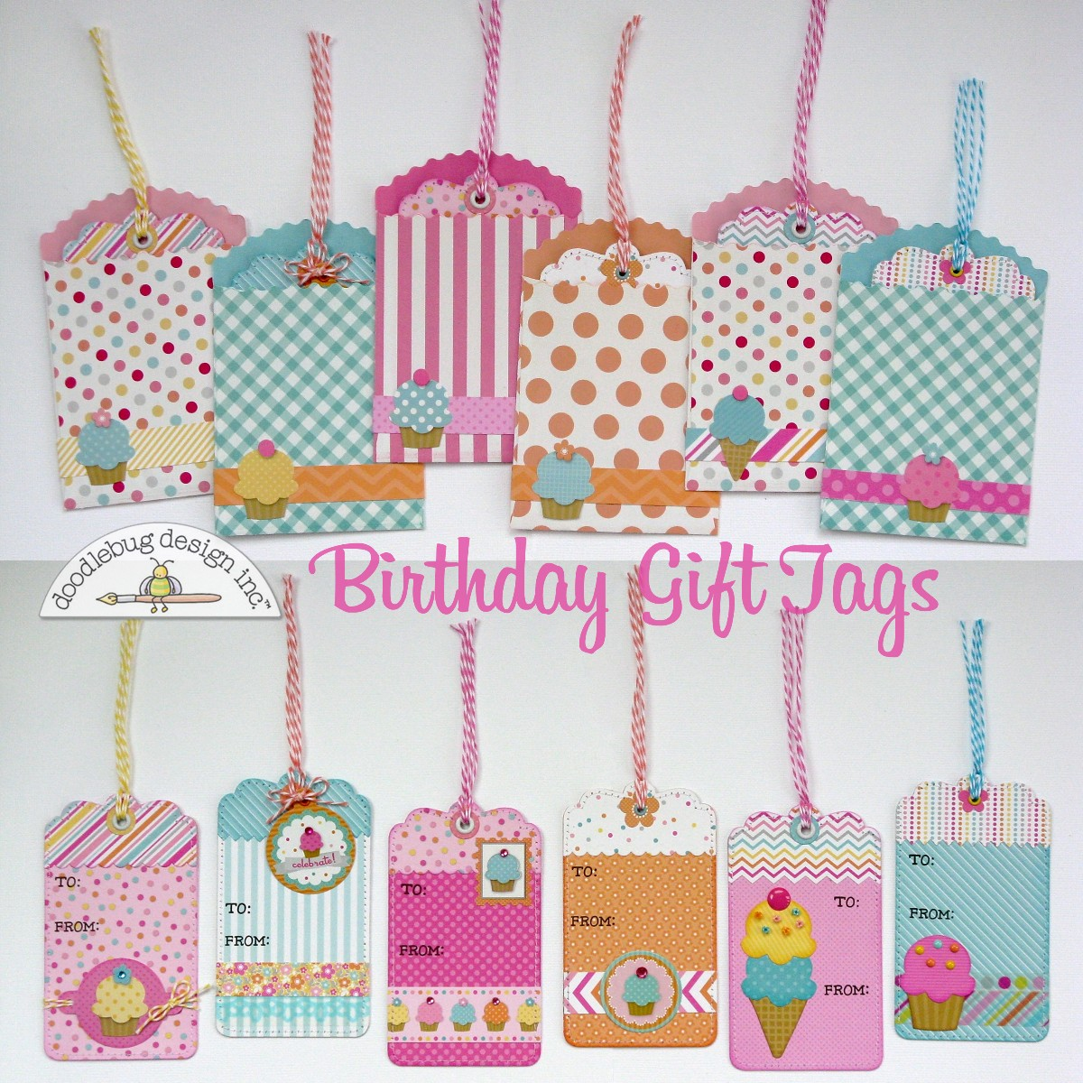 Its Mendi Here And Im Thrilled To Be Sharing Some Birthday Gift Tags With You Today Using Doodlebugs New Sugar Shoppe Collection