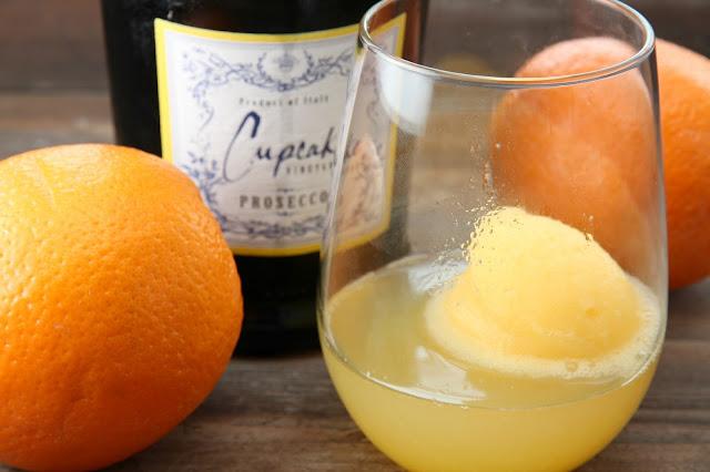 gingersnaps: Tangerine Sorbet Prosecco Float