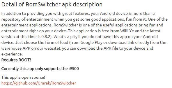 RomSwitcher 0.8.2 apk