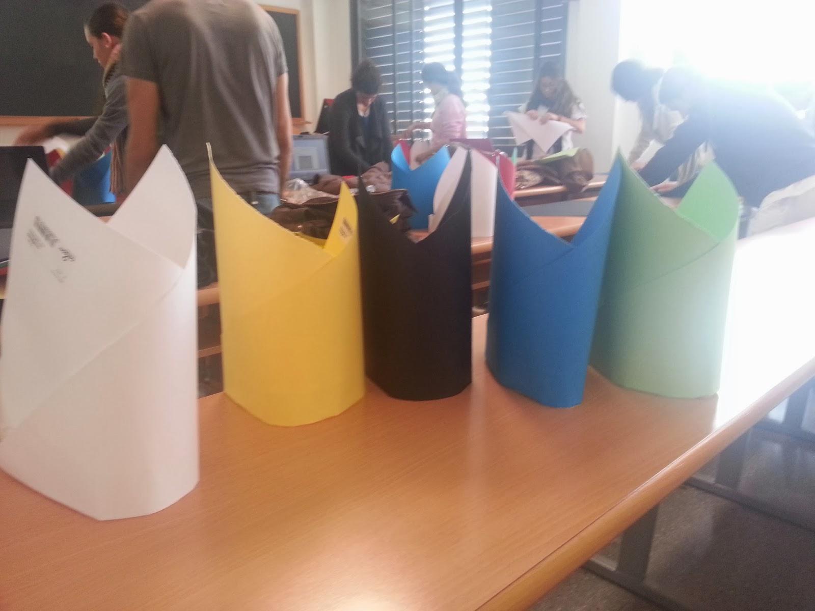 Sombreros realizados en clase