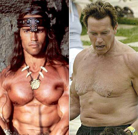 STRENGTH FIGHTER™: Arnold Schwarzenegger then and now photos Tom Cruise Injury