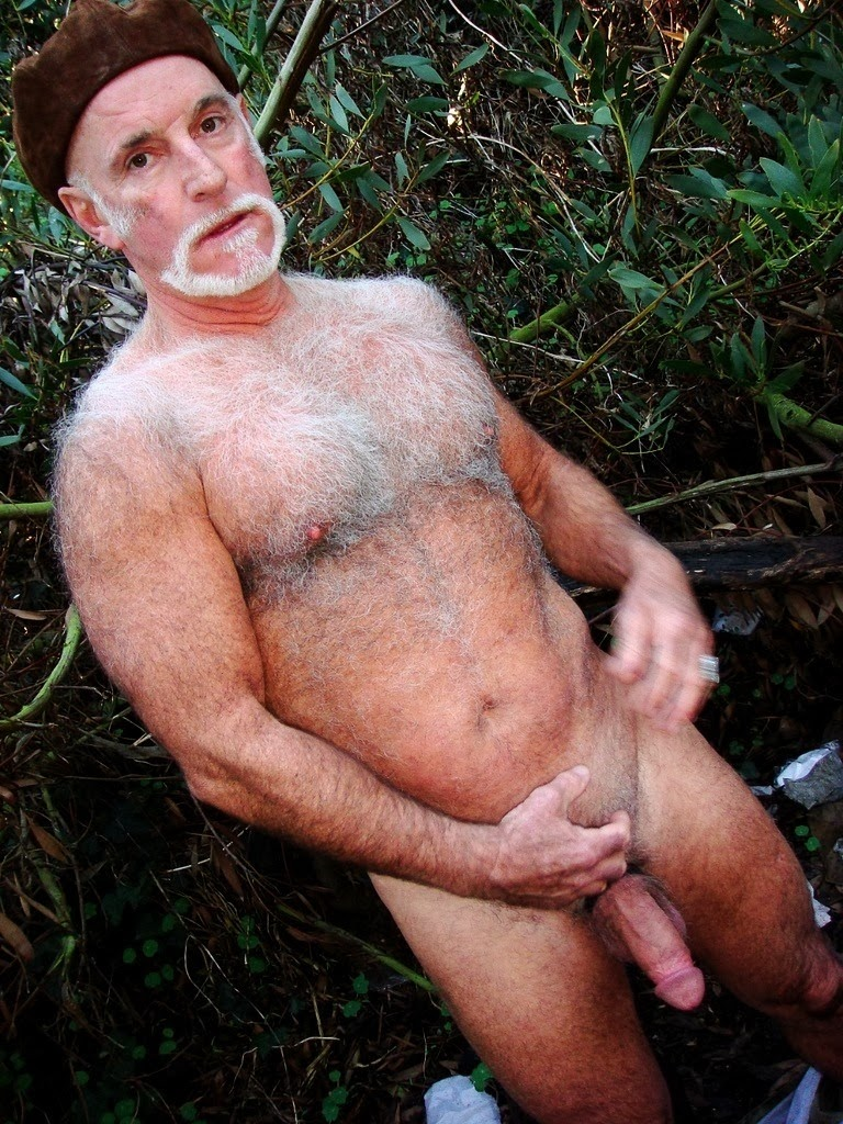 Hairy Very Naked Oldermen Old Men Silver
