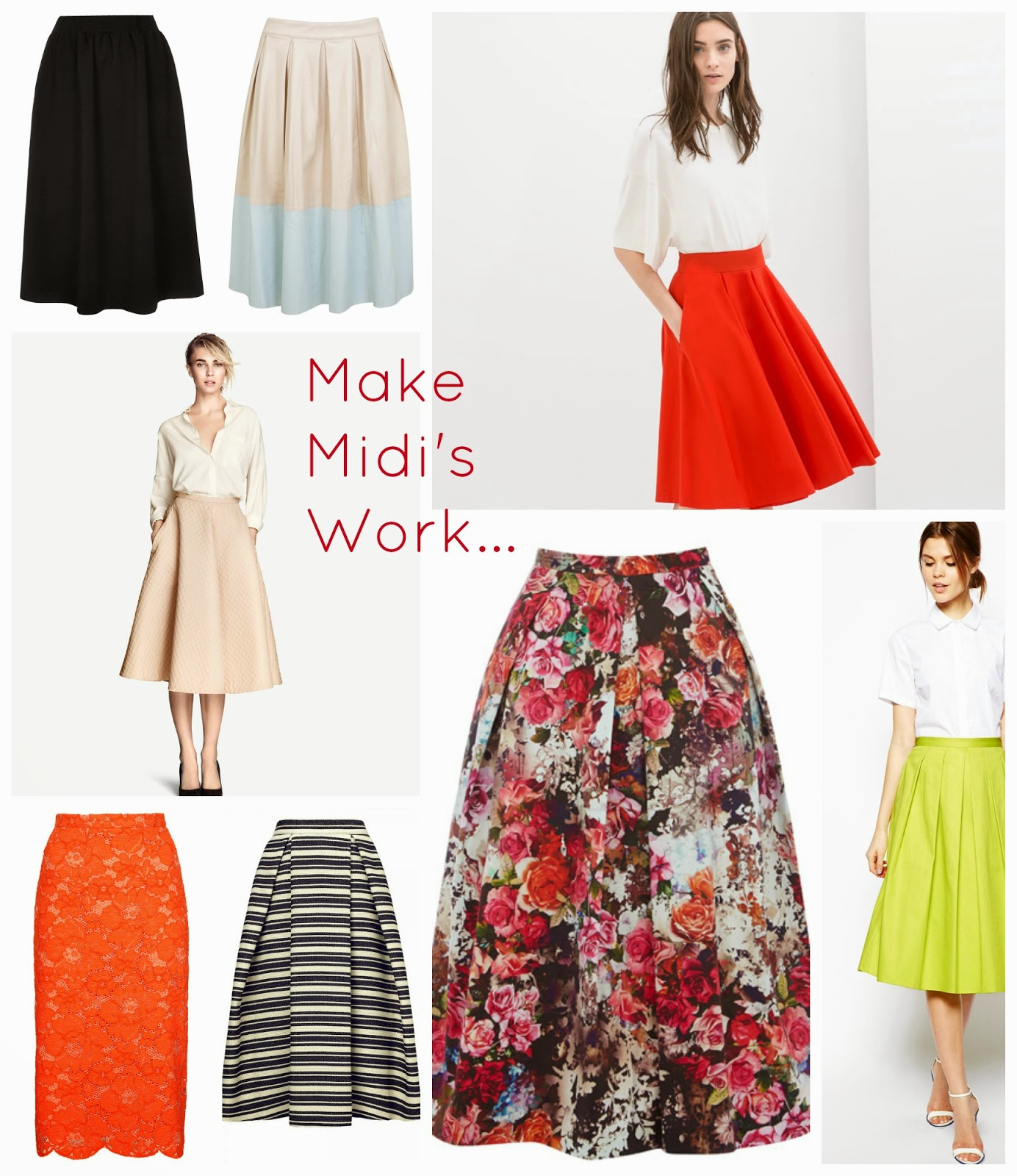 How to make a midi skirt work for... work! Fashions fave new skirt length is easy to wear | fashion | mamasVIB | style | midi skirts | topshop | zara | bode | miss selfrideg | debenhams | marks & spencer | heels | midi skirt | high street | what to wear to work | wedges | sandals | sweat shirts | classic grey tee | monsoon | working mums | mama style | office shoes office clothes | stay at home home | mamasVIb | blog |