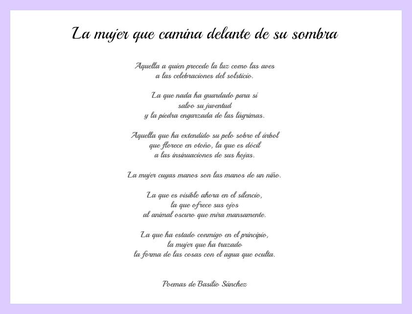 poesía para homenaje a la mujer