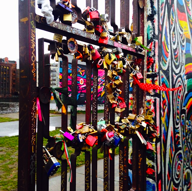 East Side Gallery love locks