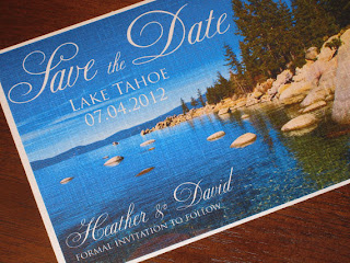 lake tahoe save the date post card