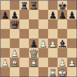 Partida de ajedrez Romero vs. Hernando, Zaragoza 1949, posición después de 19…Tac8