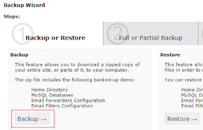 cpanel backup almak, full backup, backup wizard
