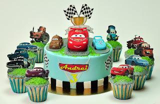 "Tort 'Funger McQueen & cupcakes"" pentru Andrei"