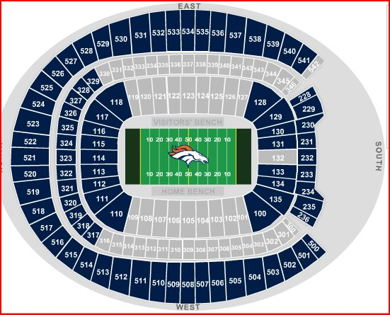 Broncos tickets seating chart denver broncos seating chart
